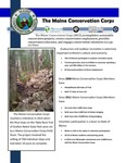 Maine Conservation Corps : Legislative Awareness Day Handout, 2015 by Maine Conservation Corps