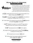 Maine Quality Centers Progress Report, 2001