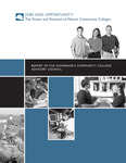 Jobs and Opportunity: The Power and Potential of Maine's Community Colleges, 2006