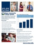 Maine Community College System 2015-2016 Fact Sheet by Maine Community College System
