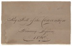 Pay Roll of the Convention, January Session 1820 by Committee on the Constitution of Maine