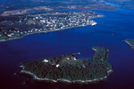Castine from the air by Joseph Kelley