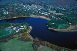 air photo of Saco River bend by Joseph Kelley