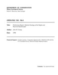 Preliminary report:  Bedrock geology of the Naples and Raymond quadrangles