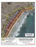 Coastal sand dune geology: Moody Beach, North, Wells, Maine