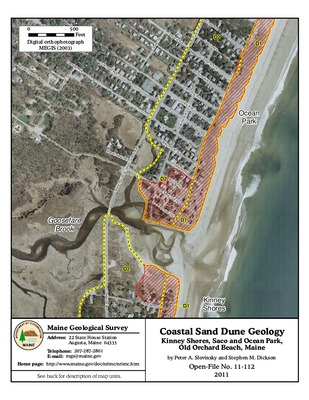 map of ocean park maine Coastal Sand Dune Geology Kinney Shores And Ocean Park Saco And map of ocean park maine