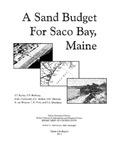 A sand budget for Saco Bay, Maine