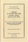 Geology of the Beck Pond area, Township 3, Range 5, Somerset County, Maine
