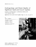 Hydrogeology and water quality of significant sand and gravel aquifers in parts of Androscoggin, Cumberland, Oxford, and York Counties, Maine