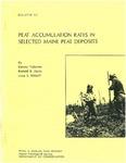 Peat accumulation rates in selected Maine peat deposits