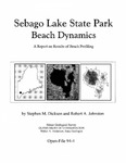 Sebago Lake State Park beach dynamics; a report on results of beach profiling