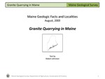 Granite Quarrying in Maine by Robert A. Johnston