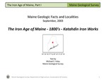 The Iron Age of Maine - 1800's - Katahdin Iron Works by Michael E. Foley