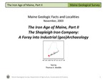 The Iron Age of Maine, Part II The Shapleigh Iron Company:  A Foray into Industrial (geo)Archaeology