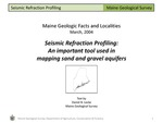 Seismic Refraction Profiling: An important tool used in mapping sand and gravel aquifers