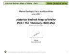 Historical Bedrock Maps of Maine, Part I: The Hitchcock (1885) Map