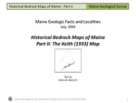 Historical Bedrock Maps of Maine, Part II: The Keith (1933) Map