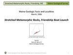 Stretched Metamorphic Rocks, Friendship Boat Launch by Henry N. Berry IV