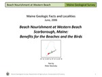 Beach Nourishment at Western Beach, Scarborough, Maine: Benefits for the Beaches and the Birds