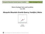 Mosquito Mountain Granite Quarry, Frankfort, Maine