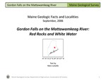 Gordon Falls on the Mattawamkeag River: Red Rocks and White Water