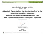 A Geologic Transect along the Appalachian Trail to Saddleback Mountain by Robert A. Johnston