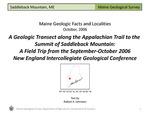 A Geologic Transect along the Appalachian Trail to Saddleback Mountain
