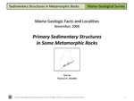 Primary Sedimentary Structures in Some Metamorphic Rocks by Thomas K. Weddle