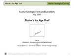 Maine's Ice Age Trail by Woodrow B. Thompson and Harold W. Borns Jr