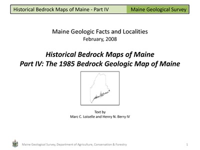Geologic Map Of Maine.Historical Bedrock Maps Of Maine Part Iv The 1985 Bedrock Geologic