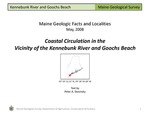 Coastal Circulation in the Vicinity of the Kennebunk River and Goochs Beach by Peter A. Slovinsky