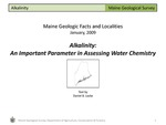 Alkalinity: An Important Parameter in Assessing Water Chemistry