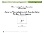 Glacial and Marine Sediments in Augusta, Maine: The Cony Street Exposure by Woodrow B. Thompson