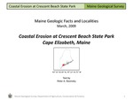 Coastal Erosion at Crescent Beach State Park by Peter A. Slovinsky