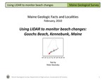 Using LIDAR to Monitor Beach Changes: Goochs Beach, Kennebunk, Maine