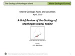 A Brief Review of the Geology of Monhegan Island by Robert G. Marvinney