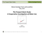 The Freeport Basin Study: A Cooperative Investigation of Water Use