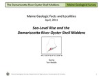Sea-Level Rise and the Damariscotta River Oyster Shell Middens by Thomas K. Weddle