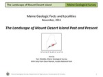 The Landscape of Mount Desert Island Past and Present by Thomas K. Weddle and Dave Manski