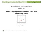 Beach Scraping at Popham Beach State Park by Stephen M. Dickson