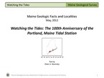 Watching the Tides: The 100th Anniversary of the Portland Tidal Station by Peter A. Slovinsky
