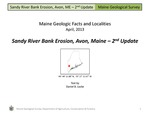 Sandy River Bank Erosion, Avon, Maine - 2nd Update