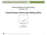 Coastal Change in Holmes Bay, Whiting, Maine