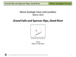Grand Falls and Spencer Rips, Dead River by Robert G. Marvinney