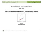 The Great Landslide of 1868, Westbrook, Maine by Stephen M. Dickson