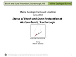Status of Beach and Dune Restoration at Western Beach, Scarborough by Peter A. Slovinsky
