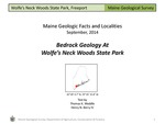 Bedrock Geology at Wolfe's Neck Woods State Park by Thomas K. Weddle and Henry N. Berry IV