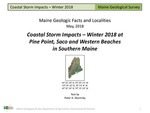 Coastal Storm Impacts - Winter 2018 at Pine Point, Saco and Western Beaches in Southern Maine