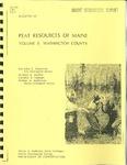 Peat resources of Maine; Volume 5, Washington County