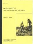 Geochemistry of selected Maine peat deposits